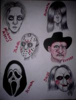 horror characters by ladycastilla