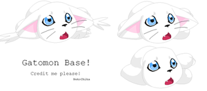 Gatomon Base by NekoChika