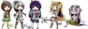 Chibi Gaia Commish - Batch 1 by SuperNelle