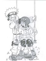Naruto and Hinata-Swing by chearioes