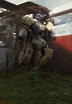 Abandoned Mobile Suit by madspartan013