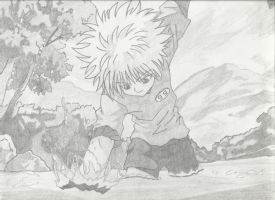 Killua Zoldyck: Catch It Like a Pro by MegumiOkaya