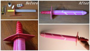 How to turn a cheap sword in a Crystal sword by IllyDragonfly