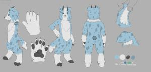 Gosseta fursuit Design by Franciskunky