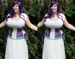 3d Penny Brown Underbust Purple Corset by 3dpinup