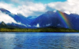 Mountain Rainbow Wallpaper by ryanstfu