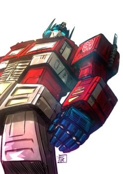 Optimus Prime by Ultrafpc
