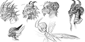Legend of Spyro character studies by OmicronWanderer