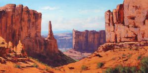 Desert Canyon Utah by artsaus