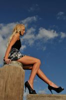 Kristy - legs on the jetty 1 by wildplaces