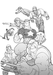 Linewerks - the 'new' Avengers by theCHAMBA