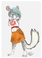 Chinchilla Anthro by TheArtyMadCow