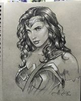 Wonder Woman Sketch SDCC2016 by AlexBuechel