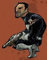 Punisher quick sketch by DerekHunter