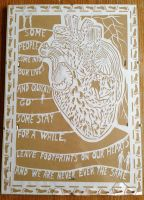 Footprints on our heart PAPERCUT by chilli-87