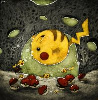 pikachu fish by berkozturk