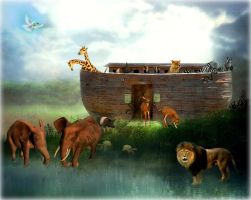 Disembarking The Ark by RavenMaddArtwork