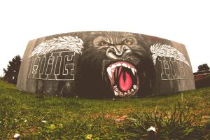 chromers gorilla graffiti 2013 by chromers-art