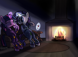 Xmas chill time by Cheshiresdesires