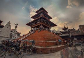 Praying for Nepal by MD-Arts