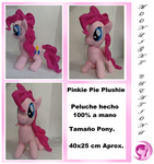 Plushie  Pinkie Pie (Disponible) by Ebarth