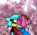 KISS UNDER THE CHERRY BLOSSOMS by soulalchemist002