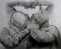 Dark Knight Rises drawing by Hulkster77