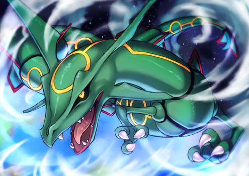Rayquaza by Crescentia-Fortuna