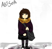Allison in a street by yosh-tush-us