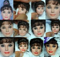 Repaint Process - My Fair Lady Audrey Hepburn doll by noeling