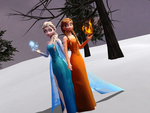 MMD Frozen - Snow Queen and Fire Princess by JackFrostOverland