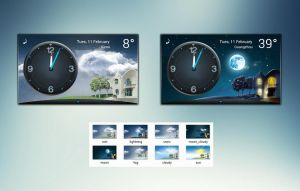 Panorama Clock Weather HQ for xwidget by jimking
