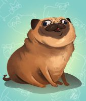 Squishy Pug by okaybeex