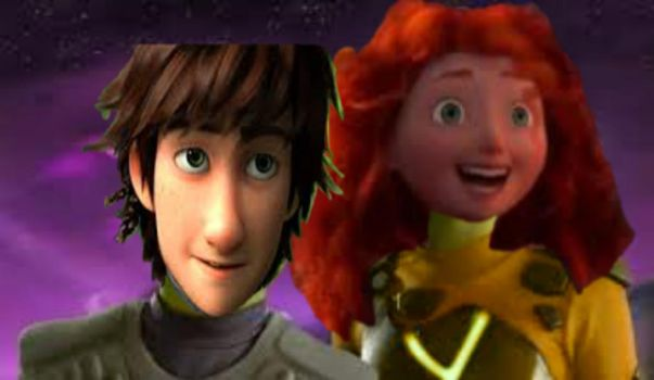Sharkboy and Lava girl - Hiccup and Merida by Sweet-racer