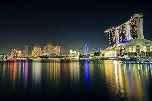 Marina Area At Night by n-a-k-s