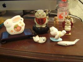 chinese-japanese figurines by curlytopsan