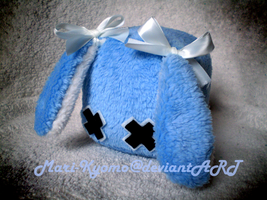 Blue Bunny Cube Plush - Sold by Mari-Kyomo