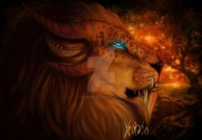 Male Charr/Lion by RedEyedDemon