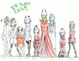 All My Irken OCs by MizuCloud