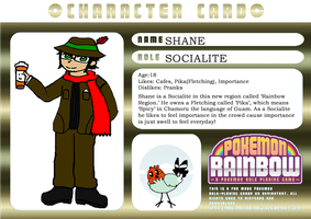 Pokemon Rainbow Character Card: Shane by PacificIslanderGirl