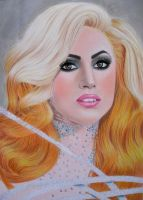 LADY GAGA 14 by AngelasPortraits