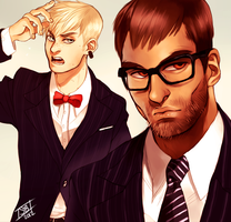 and suits by sharkieboo