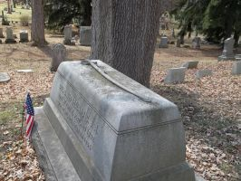 Civil War Grave with sword Spring Forest Cemetary by seaglasshunter