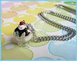 Hot Fudge Necklace by cherryboop
