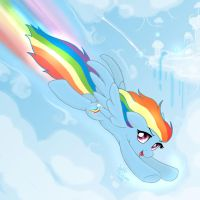MLP FIM - Rainbow Dash Fly Very Fast by Joakaha