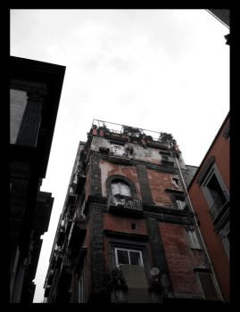 Napoli .4 - Red building by DiJoU
