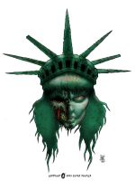 Lady Liberty Zombie by williamsquid