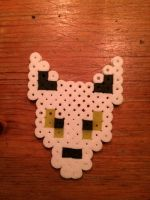 perler wolf by wolfyloveanime
