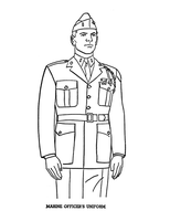 Marine Officer's Uniform by Writer-Colorer