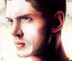 Jensen Ackles - Portrait Colored pencils by Kodomo-no-luna